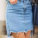 how to make a skirt out of jeans without sewing