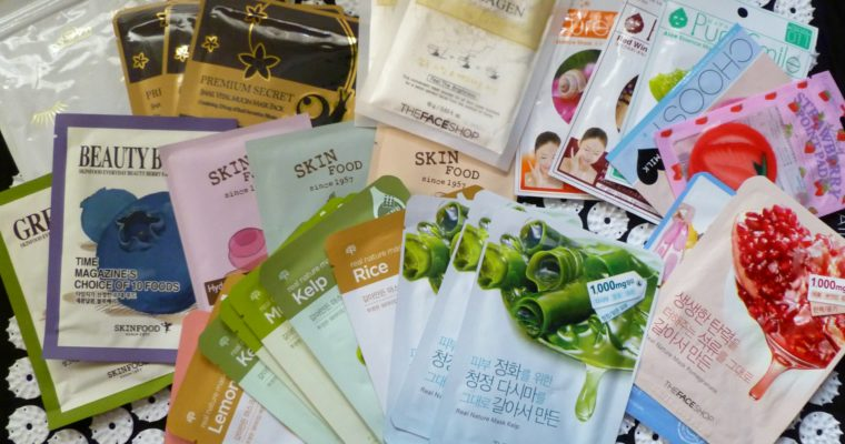 THE FACE SHOP FACE MASKS REVIEW
