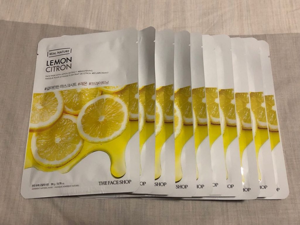 The Face Shop Real Nature Lemon Face Mask:
