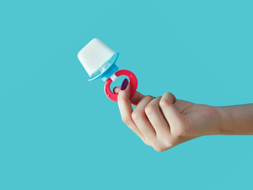 breastmilk for teething