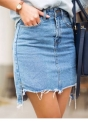 How to make a Skirt out of Denim Jeans